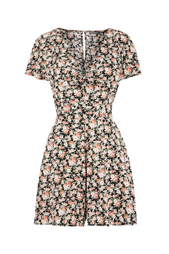 Oasis, DITSY TIE FRONT PLAYSUIT Multi 0