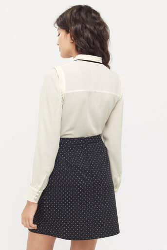 Oasis, DANDY TIE BLOUSE Off White 3