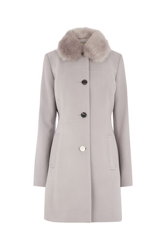 Oasis, OLIVIA PRINCESS COAT Mid Grey 0
