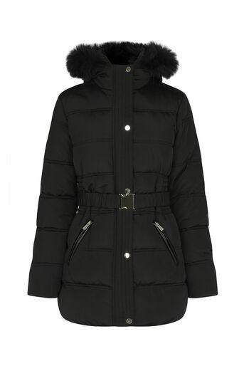 Oasis, MABEL PADDED COAT Black 0