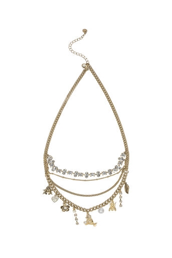 Oasis, LAYERED CHARM NECKLACE Gold 0
