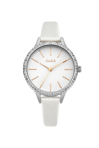 Oasis, Stone Border Watch Silver 0