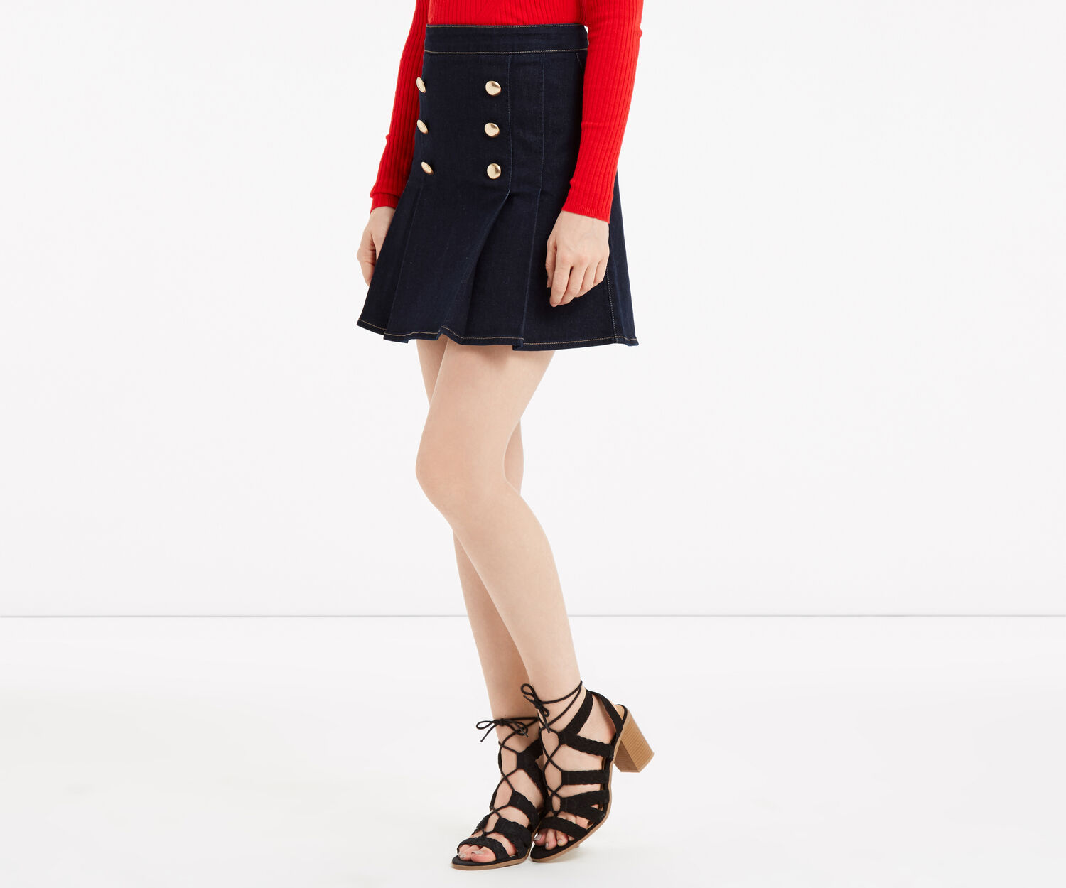 Oasis, Military skirt Dark Wash 1