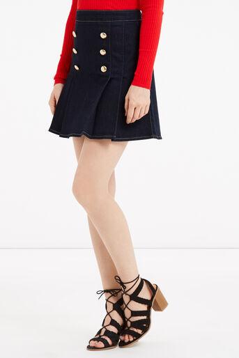 Oasis, Military skirt Dark Wash 1