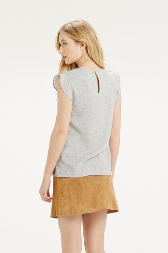 Oasis, Linen Look Top Mid Grey 3