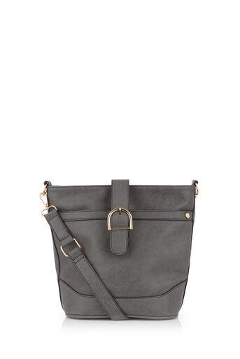 Oasis, BONNIE BUCKET BAG Mid Grey 0