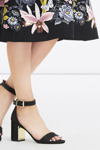 Oasis, Petite Botanical Midi Skirt Multi Black 4