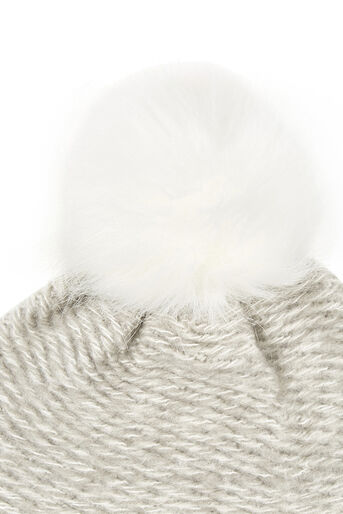Oasis, KNITTED BOBBLE HAT Pale Grey 2