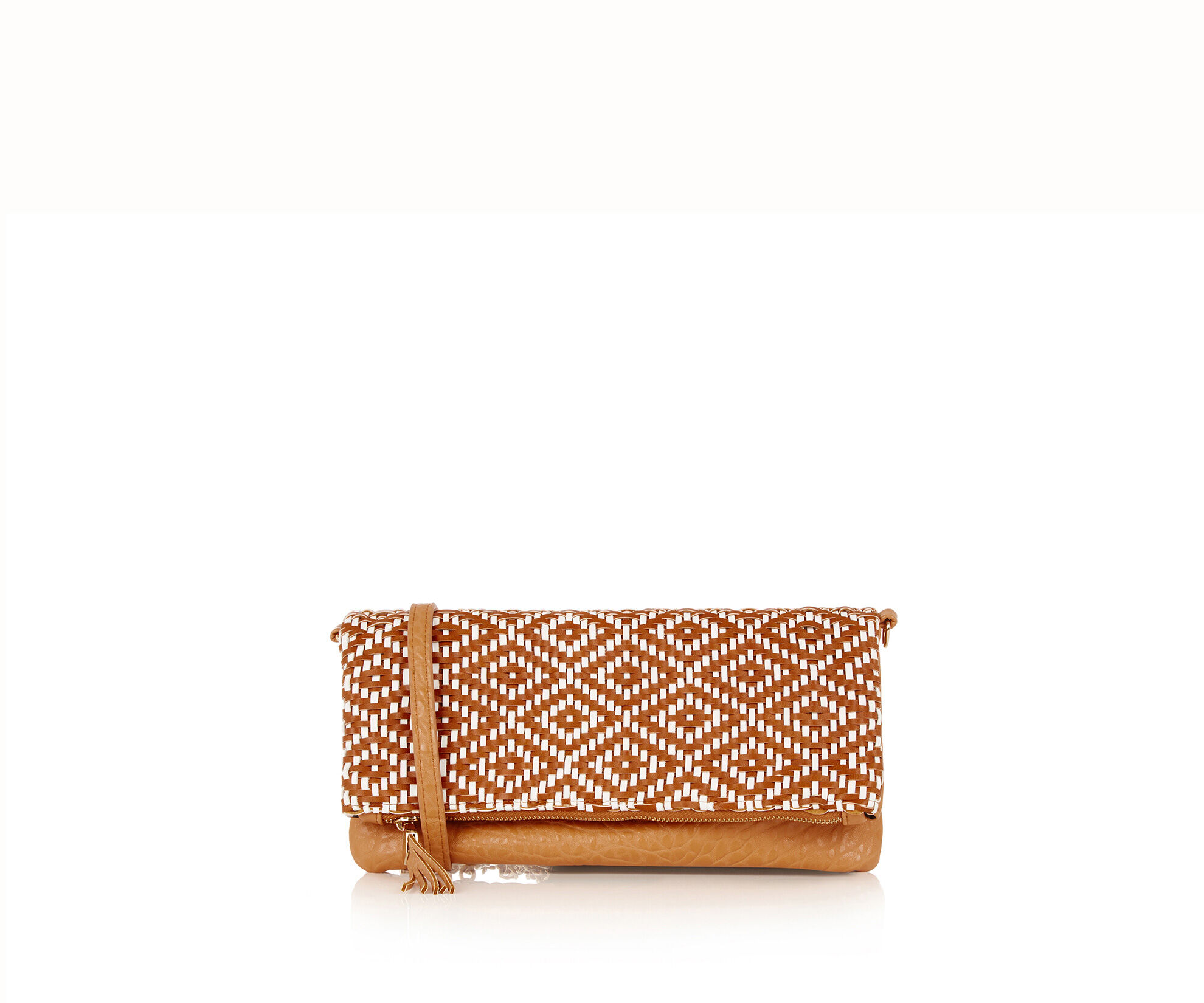 Oasis, Woven Fold-Over Clutch Bag Multi 0