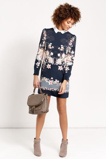 Oasis, LOTUS SHIFT DRESS Multi 2