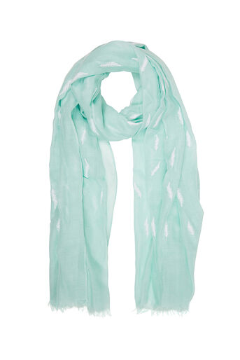 Oasis, FEATHER PUFF SCARF Light Blue 0