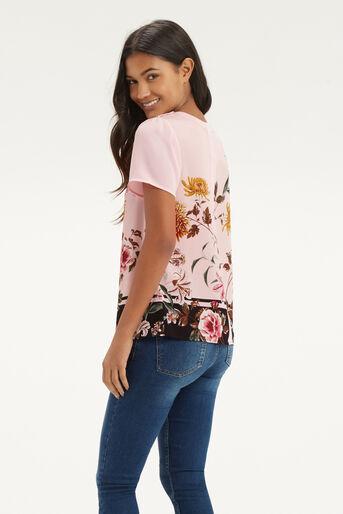 Oasis, Opium Grosgrain T-Shirt Multi Pink 3