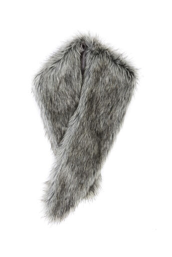 Oasis, FAUX FUR TIPPET Mid Grey 0