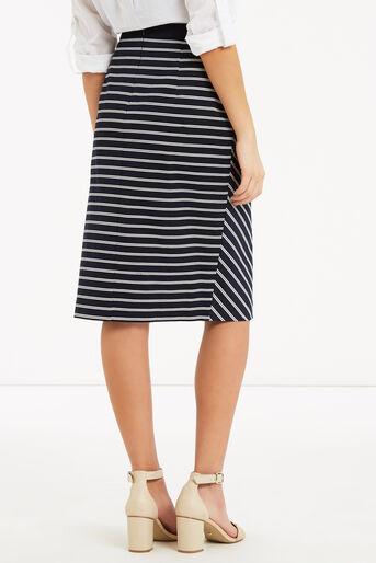 Oasis, Stripe Wrap Pencil Skirt Multi 3