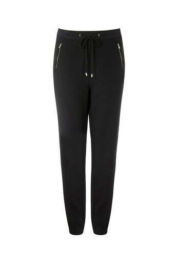 Oasis, SPORTY CUFF TROUSER Black 0