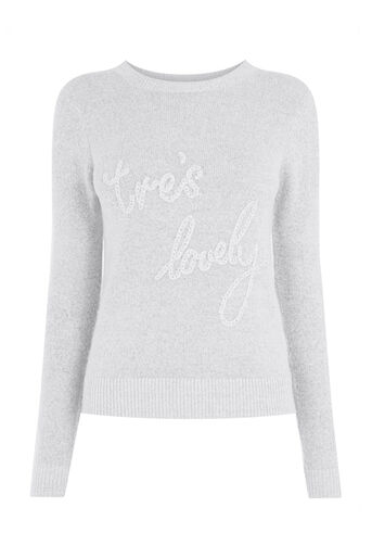 Oasis, Tres lovely knit jumper Mid Grey 0