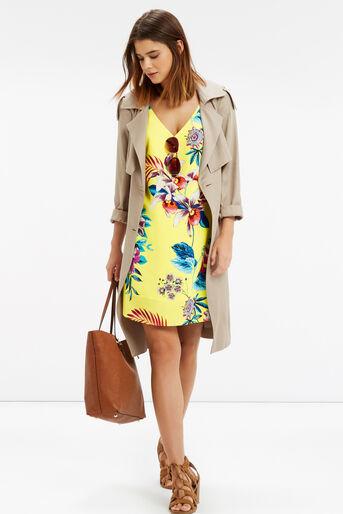 Oasis, Tropical Cami Dress Multi Yellow 2