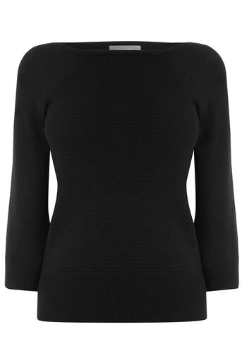 Oasis, TEXTURED KNIT Black 0