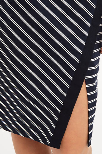 Oasis, Stripe Wrap Pencil Skirt Multi 4
