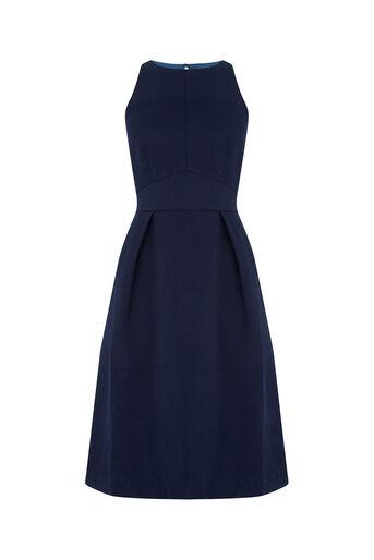 Oasis, Jacquard Midi Dress Navy 0