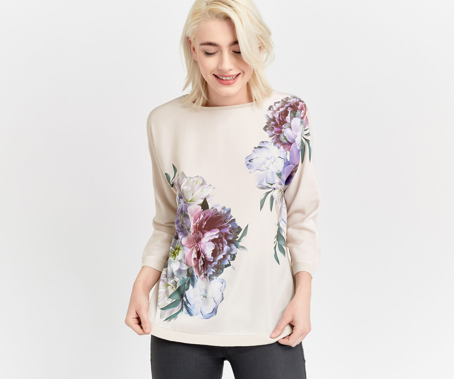 Oasis, WILD FLORAL KNIT Lilac 1