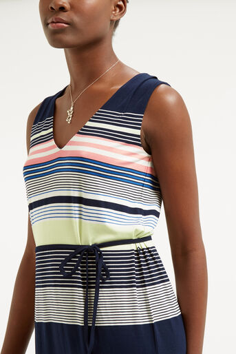 Oasis, Stripe Midi Dress Multi 4