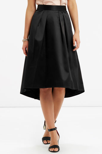 Oasis, PETITE SATIN SKIRT Black 1
