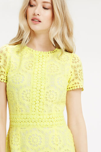 Oasis, Isla Lace Dress Bright Yellow 4