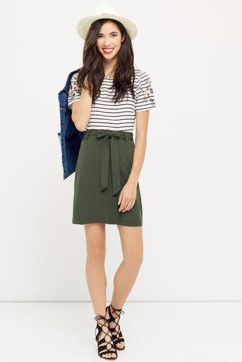 Oasis, Patch pocket utility skirt Khaki 2