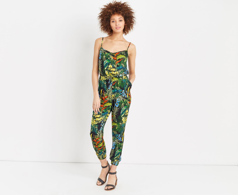 Oasis, Tropical penang jumpsuit Multi Black 1