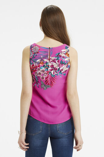 Oasis, TROPICAL PLACEMENT VEST Multi Pink 3