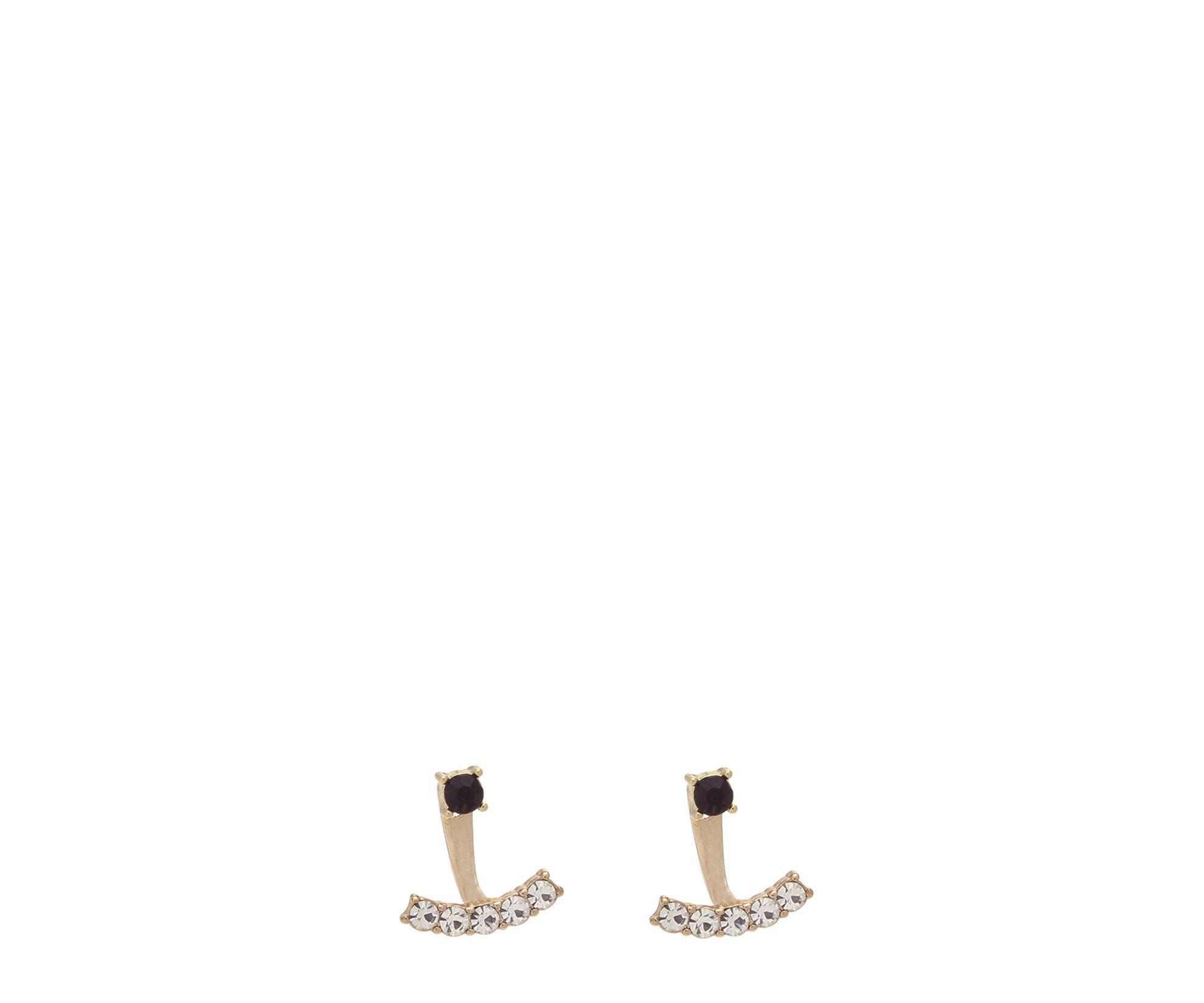 Oasis, SIMPLE UNDER-EAR EARRING Black 0