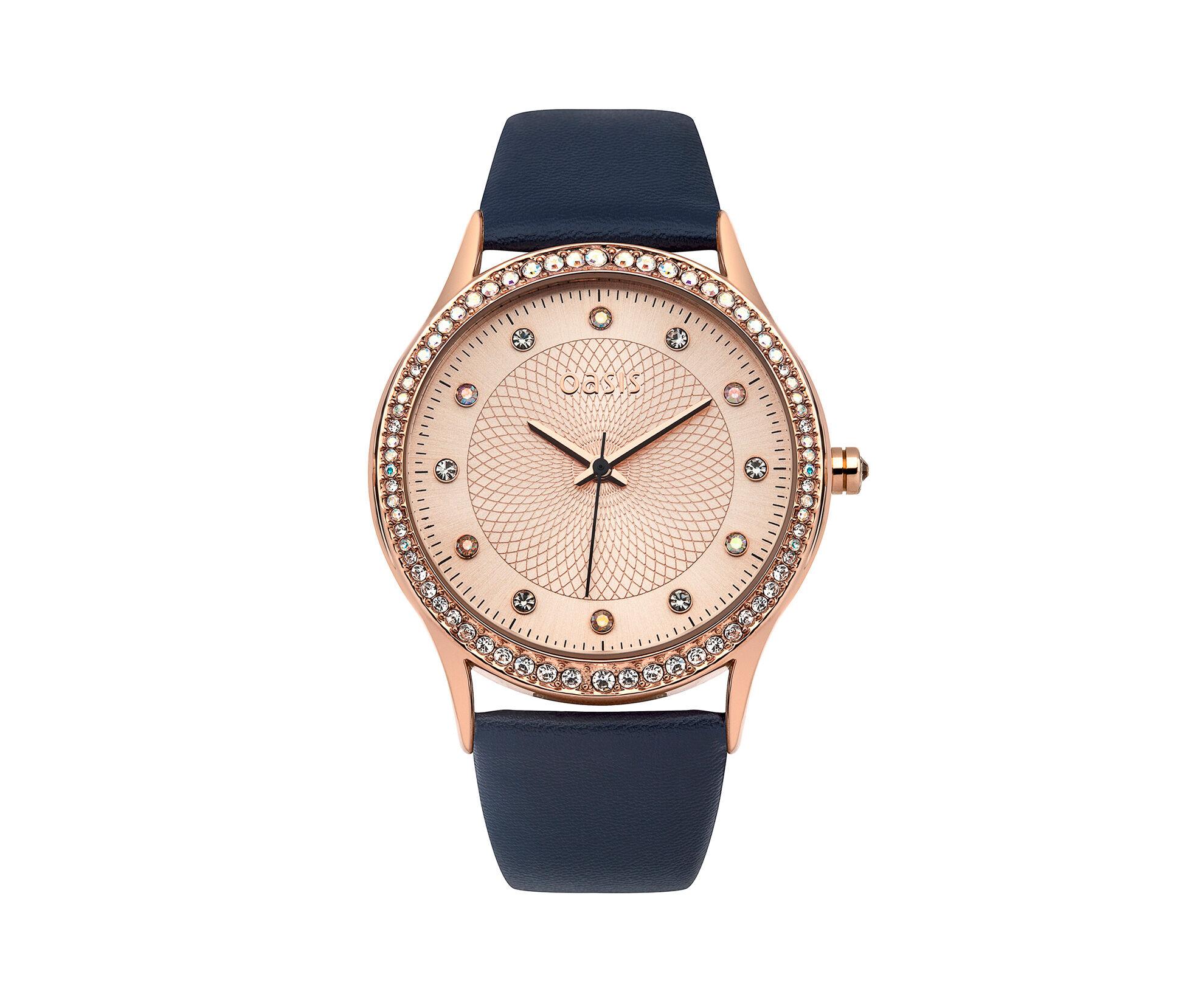 Oasis, Navy PU Strap Watch Navy 0
