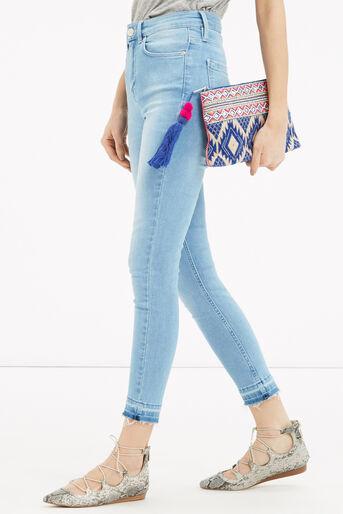 Oasis, Delhi Clutch Bag Multi Blue 1