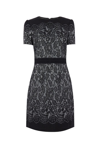 Oasis, NTU LACE SHIFT DRESS LONG Multi Black 0