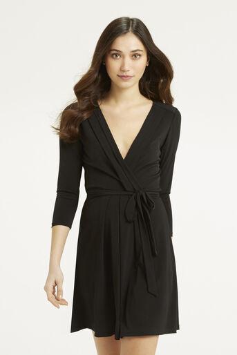 Oasis, Wrap Dress Black 1