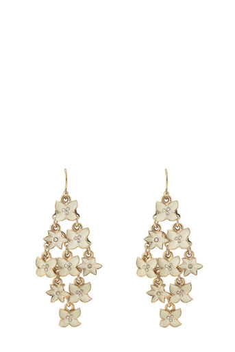 Oasis, Flower Cascade Drop Earring Cream 0