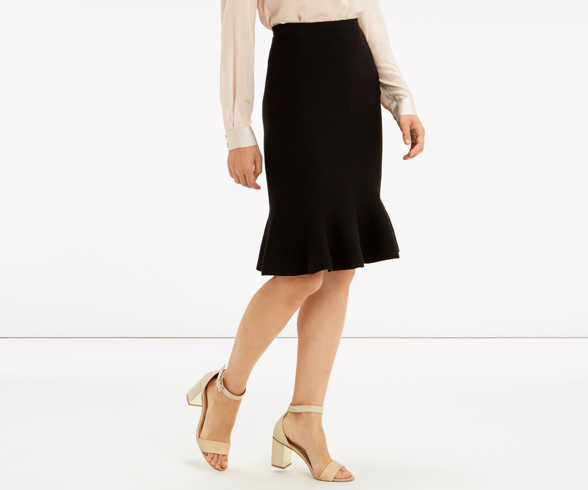 Oasis, Fishtail skirt Black 1