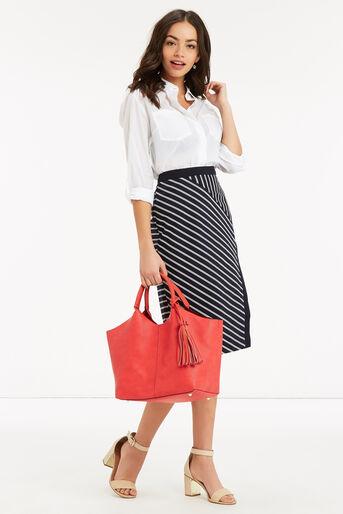 Oasis, Stripe Wrap Pencil Skirt Multi 2