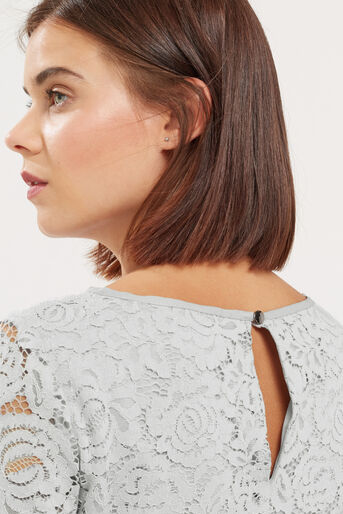 Oasis, LACE TOP Pale Grey 4