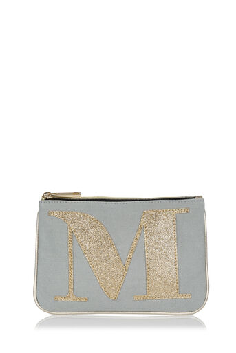 Oasis, LETTER M POUCH Pale Grey 0