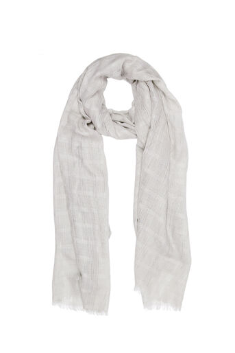Oasis, LUREX TEXTURED SCARF Mid Grey 0