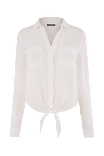 Oasis, TIE FRONT SHIRT White 0