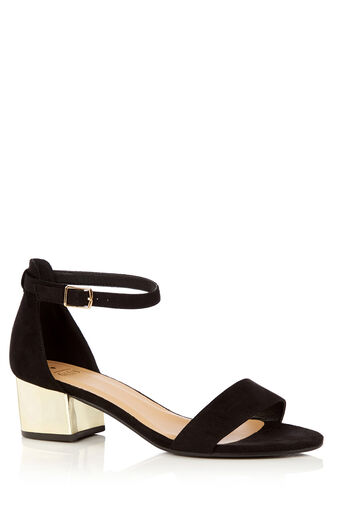 Oasis, ARORA 2 PART BLOCK HEEL Black 0