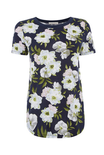 Oasis, WILD BLOOM TEE Navy 0