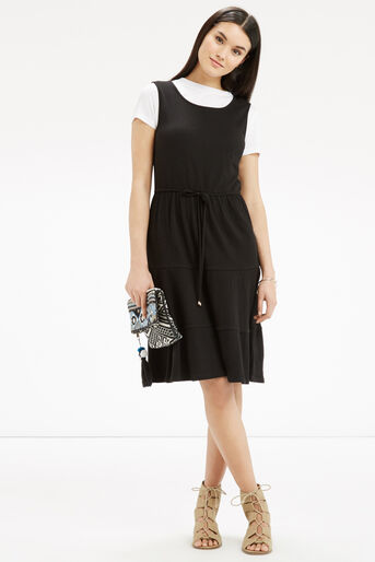 Oasis, Cheesecloth Tiered Dress Black 2
