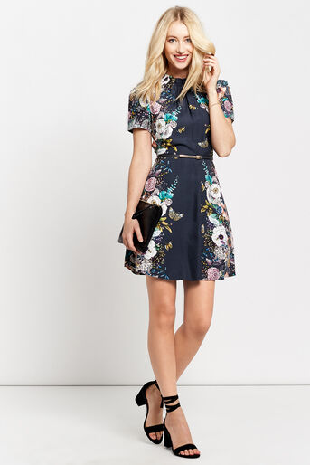 Oasis, ENCHANTED FOREST SKATER DRESS Multi 2