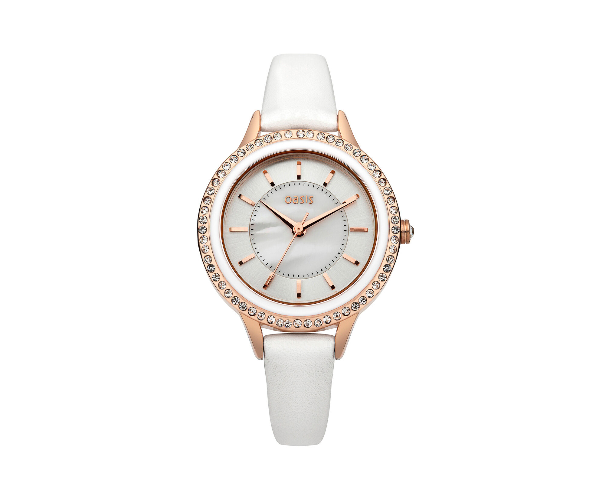 Oasis, Mother Of Pearl Watch White 0