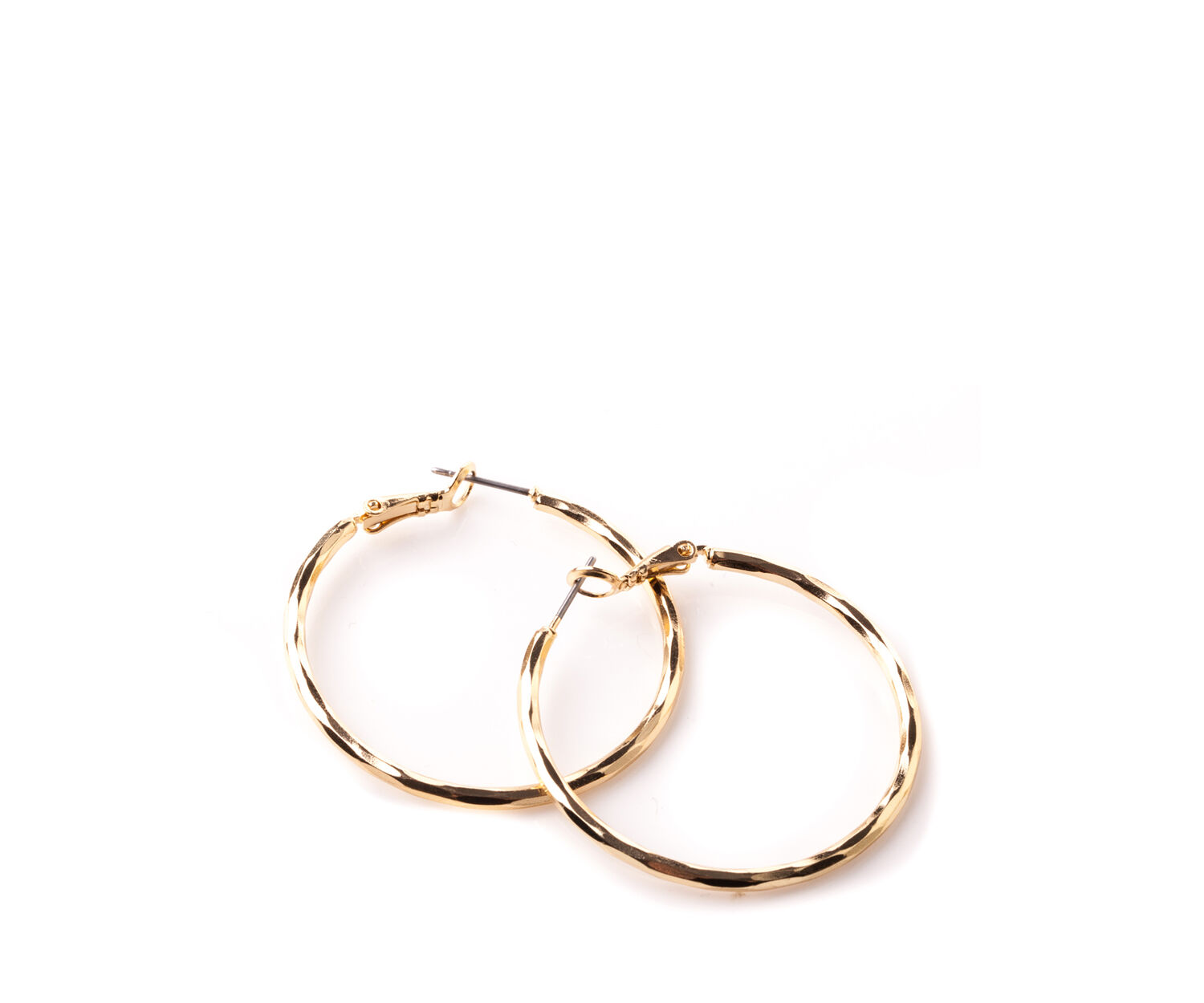 Oasis, BASIC GOLD TONE HOOPS Gold 1