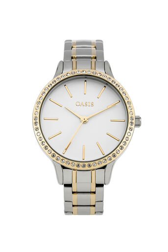 Oasis, Steel Bracelet Watch Gold 0
